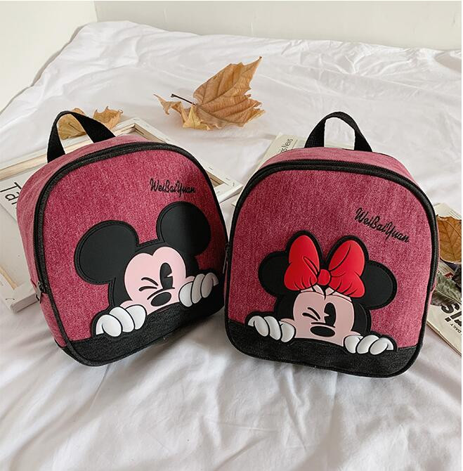 New Cute Kindergarten School Bag Cartoon Minnie Mickey Baby 3-6 Years Old Children Backpack Boy Girl Travel Backpack