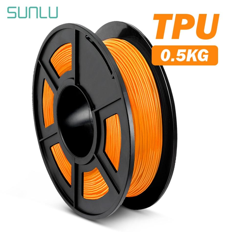 Нить SUNLU из ТПУ Гибкая 0,5 кг/рулон нетоксичный материал для 3D-принтера 1,75 мм Гибкая ТПУ расходные материалы высокая прочность