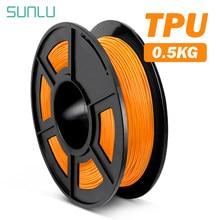 Material não-tóxico flexível do filamento 0.5kg/rolo de sunlu tpu para a dureza alta consumível flexível do tpu da impressora 3d 1.75mm