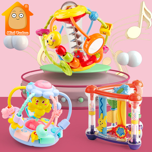 Baby Rattle Activity Ball Rattles Educational Toys For Babies Grasping Ball Puzzle Playgro Baby Toys 0-12 Months climb Learning(China)