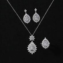 Ювелирный Набор hadiyana высокое качество циркон ожерелье серьги