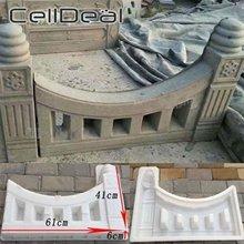 Molde de hormigón para jardín, 61x41x6cm, molde de plástico hueco para construcción de cerca, decoración, patio antiguo, blanco