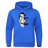 La Casa De Papel Sudadera con capucha hombres otoño hombres suéter Casual Streetwear La Casa De Papel Hoodies traje Salvador Dalí sudadera