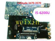 Материнская плата для ноутбука DELL Latitude 3470 3570 с фотографическим процессором YKP8M 0YKP8M I5-6200U 14291-1 DDR3L