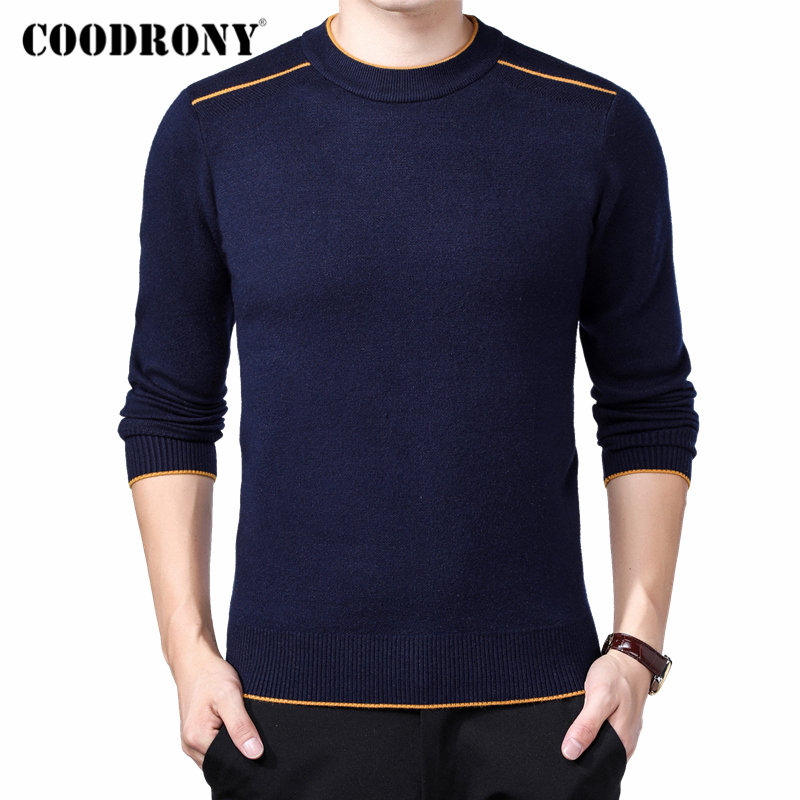 COODRONY Brand Sweater Men Classic Casual O-Neck Pullover Men Autumn Winter Thick Warm Pull Homme Cashmere Woolen Knitwear 91108
