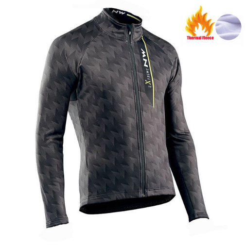 <font><b>NW</b></font> <font><b>2019</b></font> <font><b>Northwave</b></font> Pro team Men Cycling Jackets Winter Thermal Fleece Jersey Bicycle Cycling Warm MTB Bike Clothing Jacket image