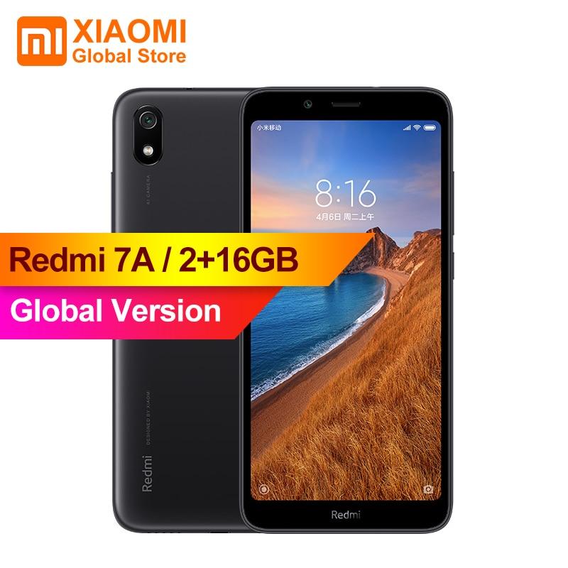 Global Version Xiaomi Redmi 7A MI Celular 2GB 16GB Smartphone Snapdargon 439 Octa Core 4000mAh AI Face Unlock 5.45