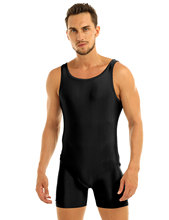iEFiEL Male Mens Sleeveless Stretchy One Piece Sport Gym Bodysuit Leotard Dance Performance Biketard Unitard Nightwear Jumpsuit(China)