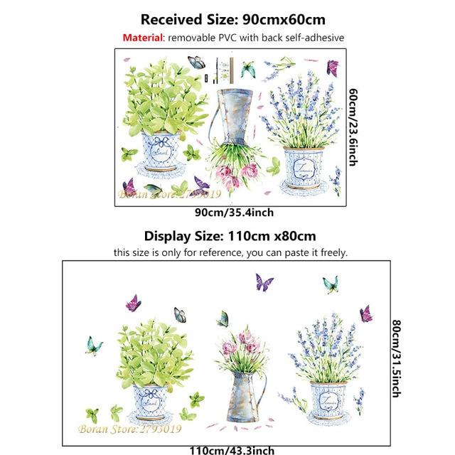 Bonsai Wall Stickers 3pcs Pot Plants 4