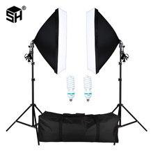 Boîte à lumière professionnelle avec prise E27, kit d'éclairage pour portraits de studio photo, photographie et prise de vue vidéo