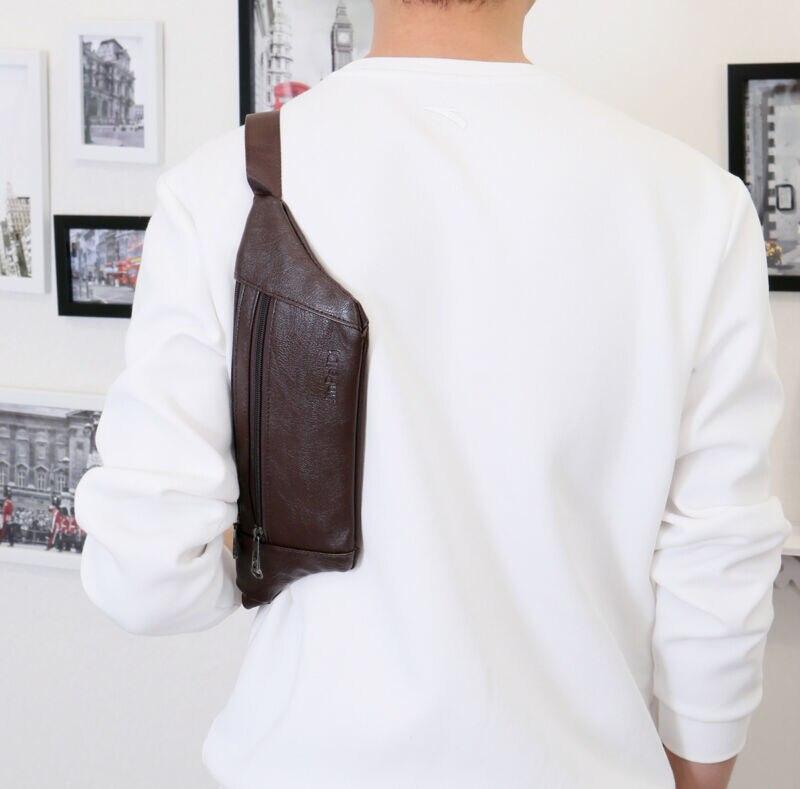 Men Small Chest Bag Pack Travel Sport Shoulder Sling Cross Body Outdoor Fashion Vintage Waterproof Multifunction Shoulder