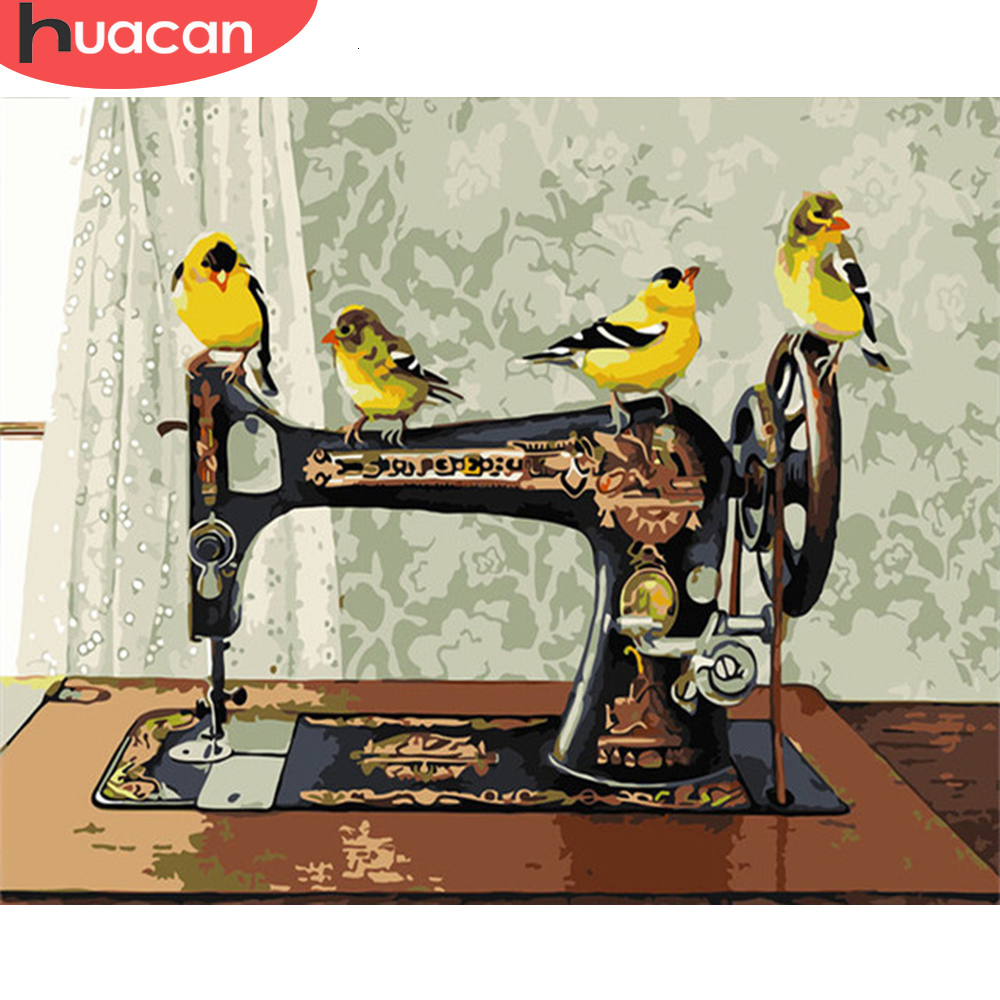 HUACAN Picture By Numbers Bird Animal Kits Drawing Canvas HandPainted Painting DIY Art Home Decoration Gift