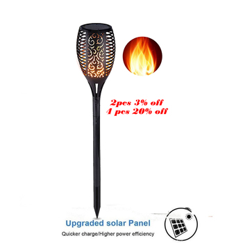 цена garden Solar powered LED luz Flame Lamp Waterproof 33LEDs Lawn camps Flame Flickering Torch Light Outdoor Solar LED Fire Lights онлайн в 2017 году