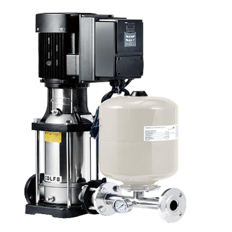 Pompe à eau d'acier inoxydable de catégorie comestible de transfert d'eau à plusieurs étages de fréquence variable 8-pompe à eau à plusieurs étages CDLF8-3 chaude
