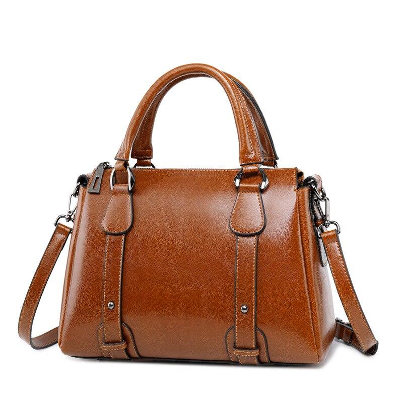 Fashion New Full Grain Genuine Leather Ladies Shoulder Bag Anti-Theft Handbag Women Tote Bags Female Shoulder Bag