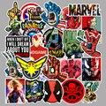 50 шт./упак. фильм супер герой для Marvel аниме мультфильм автомобиль мотоцикл телефон багаж тележка ноутбук компьютер наклейка игрушка