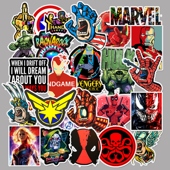 50 pcs/Pack Movie Super Hero for Marvel Anime Cartoon Car Motorcycle Phone Travel Luggage Trolley Laptop Computer Sticker Toy image