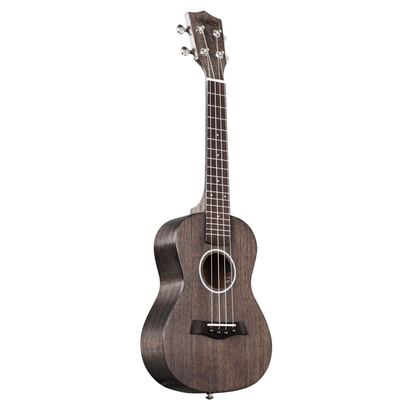 ABZB-Andrew Ukulele Concert Ukulele 23 Inch 4 Strings Head Guitar Hawaiian Zebrawood Coffee Uke Stringed Instrument