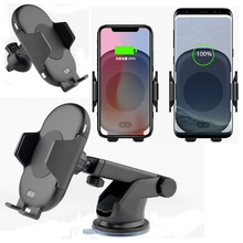 Infrared Sensor Automatic Car Wireless Charger For iphone X 8 Plus For Samsung S8 S9 Note 9 8 QI Fast Charge Sucker Phone Moun car phone holder auto mount qi wireless fast charger charging automatic infrared sensor for iphone x 8 plus samsung s9 s8 note 8