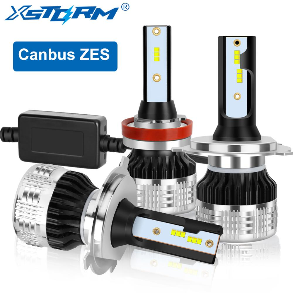2pcs Canbus ZES H1H3 H4 H7 H11 HB3 9005 HB4 9006 <font><b>9012</b></font> <font><b>LED</b></font> H27 880 881 Car Headlight Bulbs Auto Headlamp 12V image