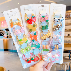 2/10/20 Pcs/Set Children Cute Cartoon Fresh Fruit Elastic Hair Bands Girls Baby Lovely Rubber Bands Gift Kids Hair Accessories