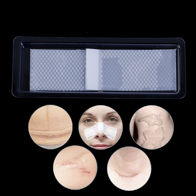 1pc Reusable Silicone Gel Scar Sheet Removal Patch Acne Gel Scar Therapy Sheet Skin Repair 3.5*12cm