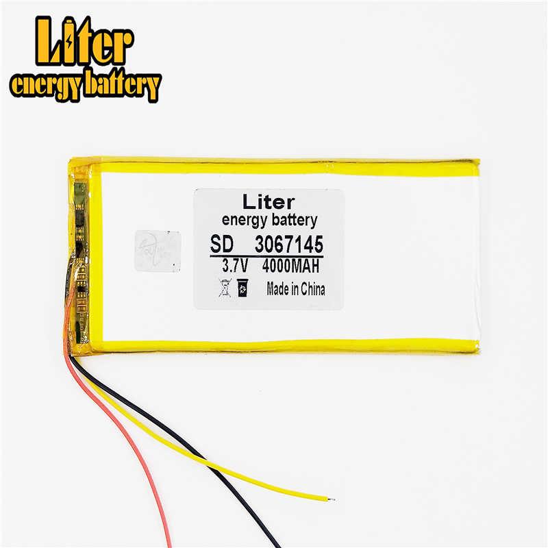 3 ラインポリマーリチウム電池 3.7 4000 mah 3067145 のための 8 インチ 9 インチ 10 インチ 12 インチタブレット pc