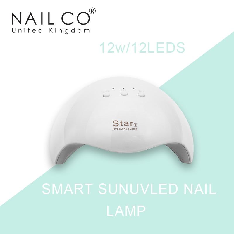 NAILCO Высокая мощность 12 Вт-12 шт. светодиоды Смарт SUNUVLED лампа для ногтей для сушки УФ гель-лака профессиональный маникюр вспомогательный инструмент для ногтей