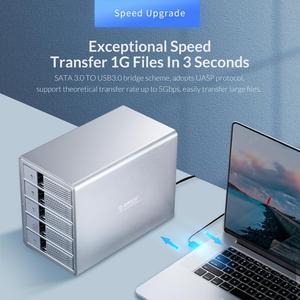 Image 2 - Док станция ORICO 5 Bay, 3,5 дюйма, USB3.0, HDD, с внутренним адаптером питания 150 Вт, поддержка 80 ТБ UASP, алюминиевый SATA к USB 3,0 HDD Чехол