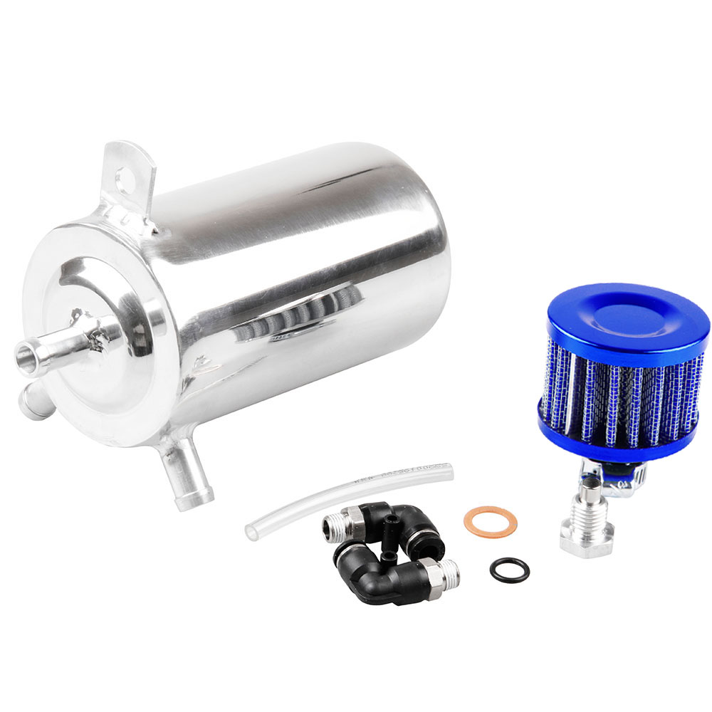 Universal Oil Breather Reservoir Tank Aluminum Alloy Fuel Tank Oli Catch Can For Bmw Audi Honda Toyoya