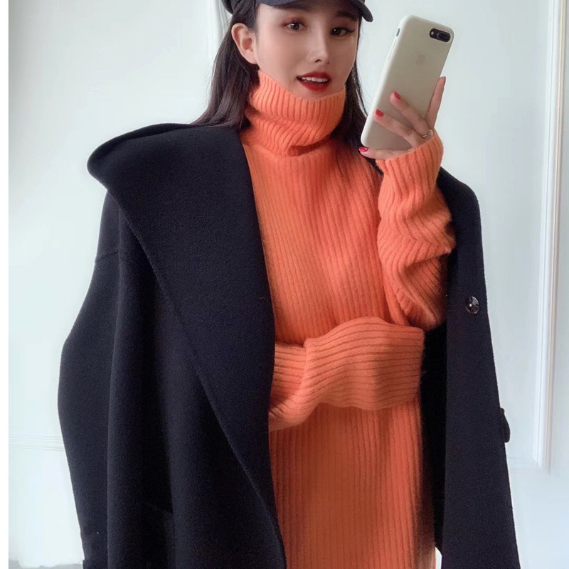 Cute Double side Cozy Warm Hoodie Wool Coat High Quality Elegant Autumn Winter Jacket Loose Oversize Casaco Feminino Inverno - 3