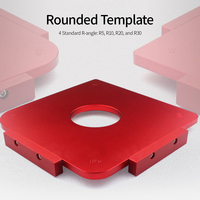 New R5/R10/R20/R30 Rounded Template Woodworking Radius Template Radius Jig Router Template Aluminum Alloy Radius Corners Table