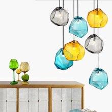 Скандинавский дизайн красочная Хрустальная стеклянная люстра