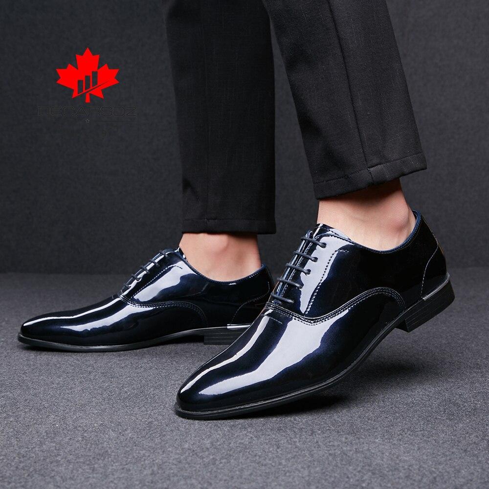 Zapatos formales de charol para hombre, calzado para boda, para oficina, Otoño, 2021