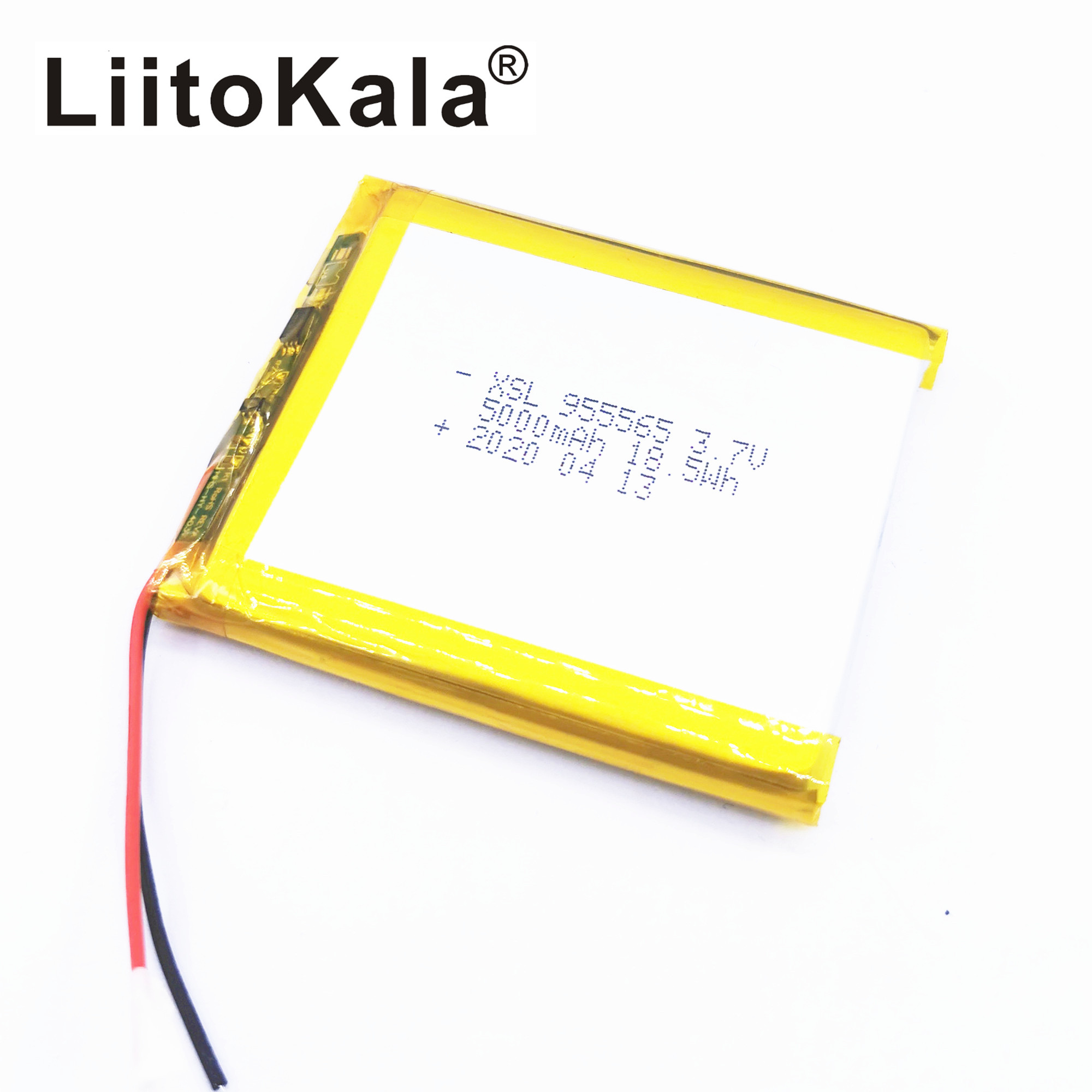 XSL <font><b>3.7V</b></font> 955565 <font><b>5000mAh</b></font> Polymer Lithium <font><b>LiPo</b></font> Rechargeable <font><b>Battery</b></font> For GPS PSP DVD PAD E-book tablet pc laptop power bank video image