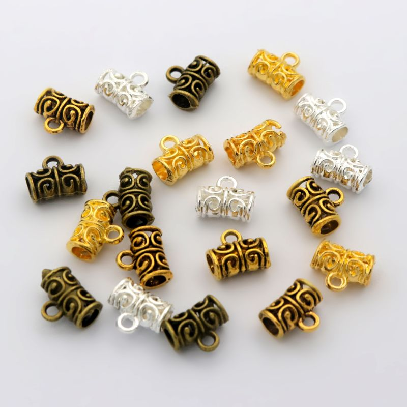 50pc 11x5mm Mixed Tibetan Gold Silver Metal Connector For Jewelry Making Diy Bracelet Necklace Accessories Wholesale