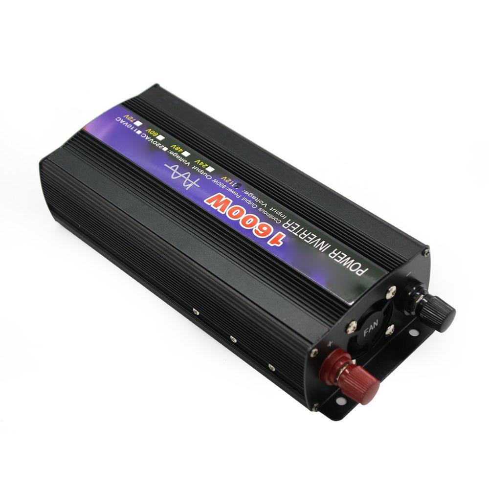 1600W Reine Sinus Welle Intelligente String Inverter Power Inverter Auto Konverter Adapter Auto Inverter mit Digital Display
