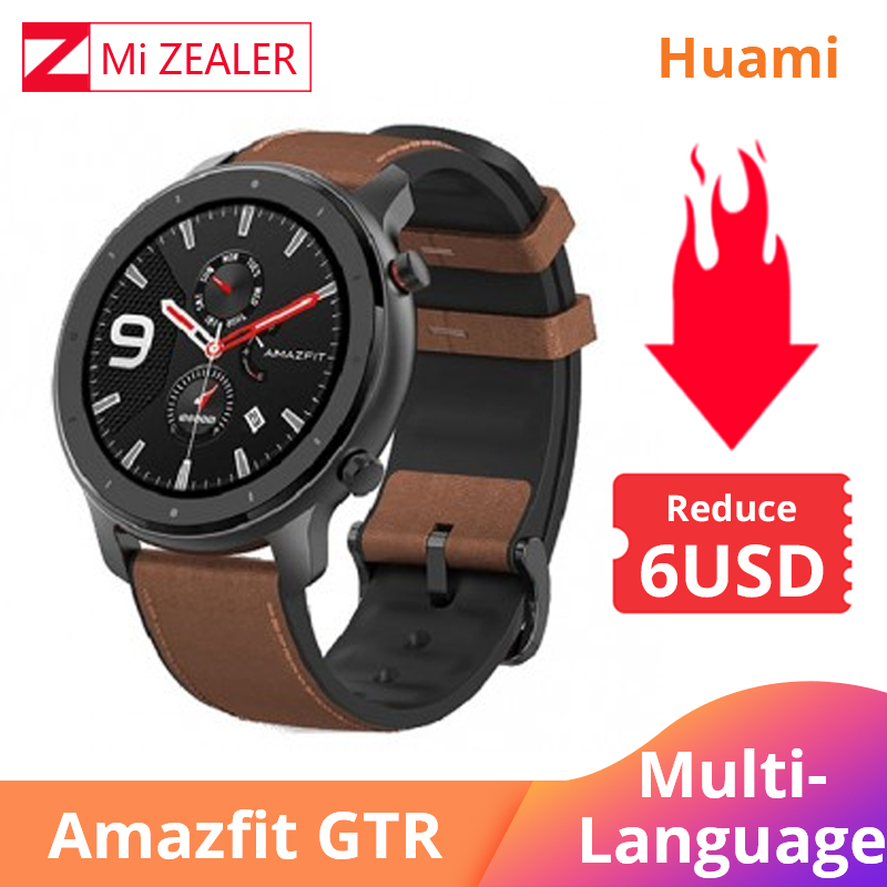Amazfit Smart-Watch Battery Huami Gtr 47mm Waterproof GPS Business In-Stock Music Aluminum-Alloy
