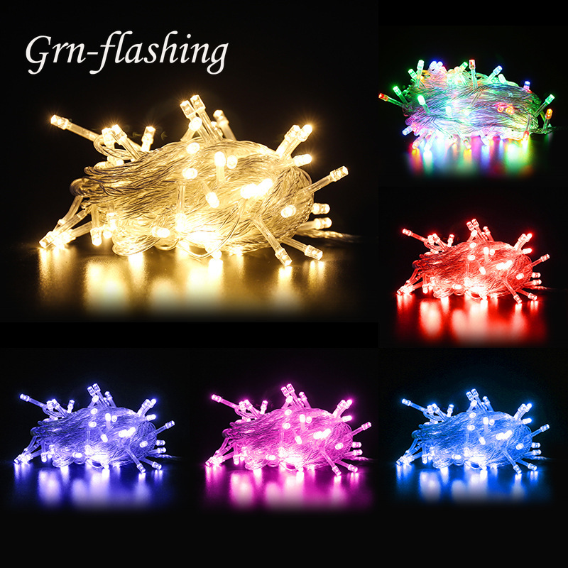 10m 100 LED Fairy String Lights 8 Modes EU US Plug 110V 220V Garland Lamp Home Christmas Wedding Party Indoor Outdoor Decoration in LED String from Lights Lighting