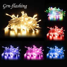 10m 100 LED Fairy String Lights 8 Modes EU US Plug 110V 220V Garland Lamp Home Christmas Wedding Party Indoor Outdoor Decoration цена в Москве и Питере