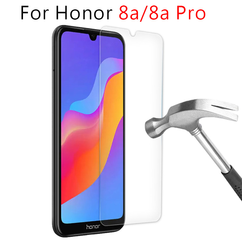 Protective Glass For Honor 8a Pro Tempered Glass Screen Protector On For Huawei Honor8a 8 A A8 8apro Honer Safety Film Case 6.09