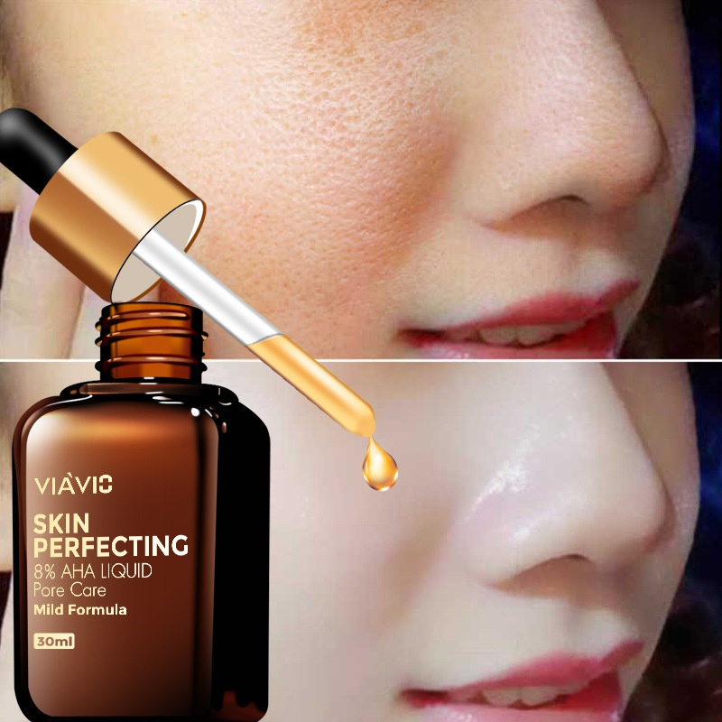 30ml Fruit Acid Face Skin Serum Shrink Pores Essence Moisturizing Skin Care Repair Whitening Anti-Aging Beauty Products
