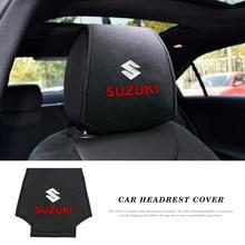 Taie d'oreiller pour appui-tête de voiture, 2 pièces, autocollant pour Suzuki Swift Jimny Swift Vitara Samurai Grand vitara Sx4 Kiz