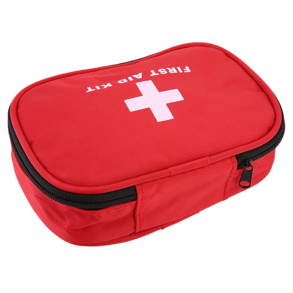First Aid Kit Red Nylon Outdoors Camping  Emergency Survival Empty Bag Bandage Drug Waterproof Storage Bag 15*10*5cm