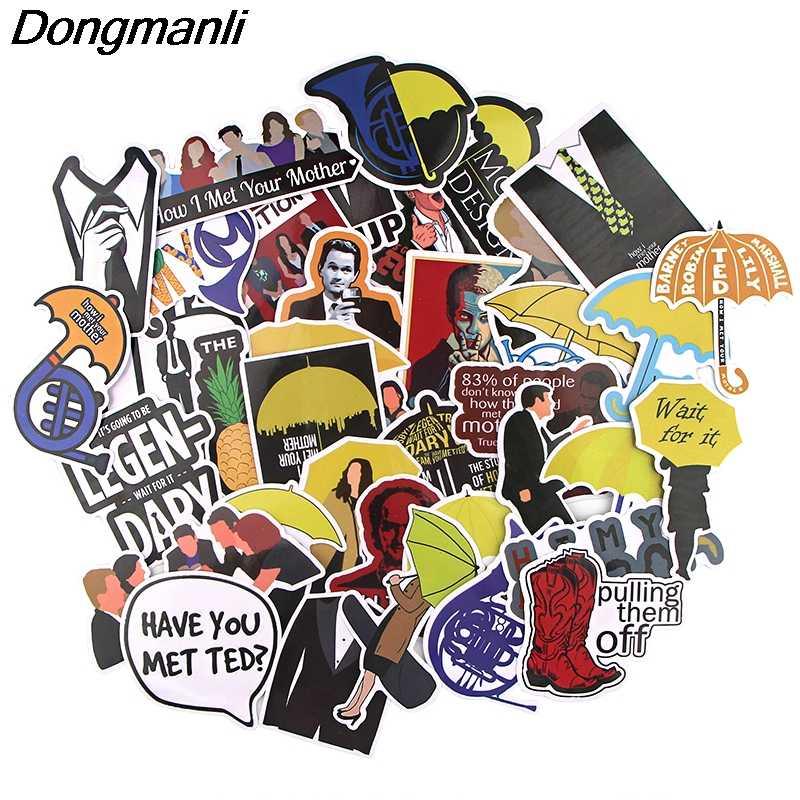 K1263 Dongmanli 37 ピース/セット方法はあなたのお母さんテレビ番組 DIY スケートボード落書きラップトップバッジオートバイ荷物アクセサリー