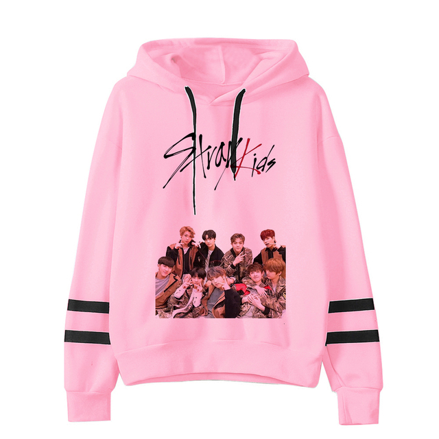 STRAY KIDS THEMED STRIPED HOODIE (24 VARIAN)