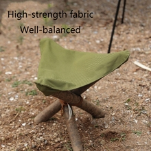 Portable Camping Folding Tripod Stool Cloth Waterproof Picnic Chair Seat Cloth D2TC