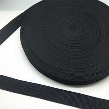 Yeni 5 metre 10/15/20/25/30/38/50mm geniş siyah kayış naylon dokuma sırt çantası çemberleme emniyet kemeri DIY Pet halat dikiş el sanatları
