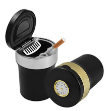 Multifunctional Watch Auto  Ashtray Metal Car for Cars Creative Gift Boyfriend
