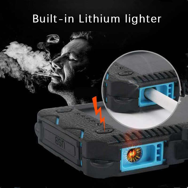 Yüksek kapasiteli 30000mAh güneş enerjisi bankası ile çakmak hızlı şarj güç bankası açık acil şarj cihazı çift USB
